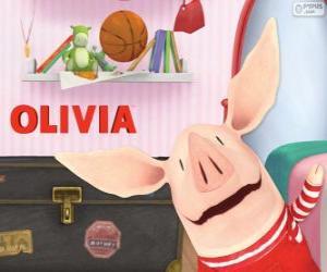 Puzzle Olivia le petit cochon