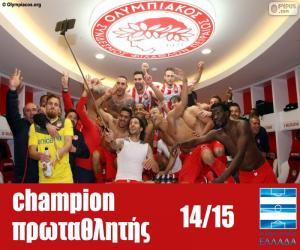 Puzzle Olympiacos FC champion 2014-2015
