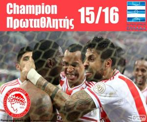 Puzzle Olympiacos FC champion 2015-2016