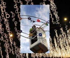 Puzzle opérateur mise ornementales lumières de Noël