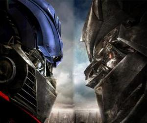 Puzzle Optimus vs Megatron