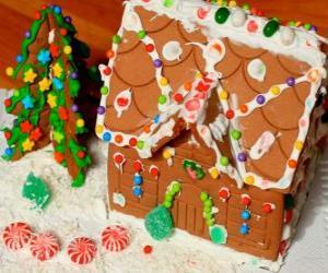 Puzzle Ornement de Noël douce et belle, une maison en pain d'épice