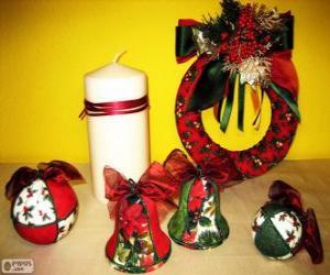 Puzzle Ornements de Noël variées