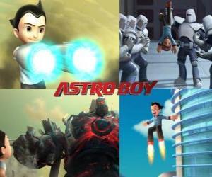 Puzzle Ou Astro Boy AstroBoy, la lutte contre ses ennemis