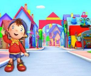 Puzzle Oui-Oui est un enfant fait de bois qui vit dans une petite maison dans Toyland, la ville de jouets