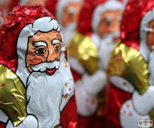 Puzzle Père Noël chocolat