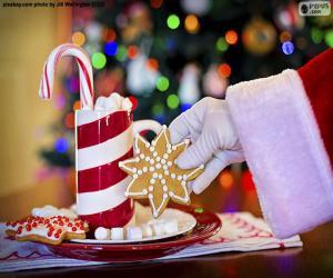 Puzzle Père Noël et bonbons