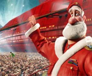 Puzzle Père Noël, le père d'Arthur Christmas