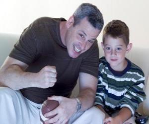 Puzzle Pères et fils, bénéficiant d'une partie
