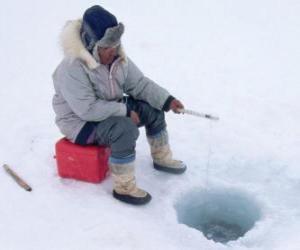 Puzzle Pêche sur glace