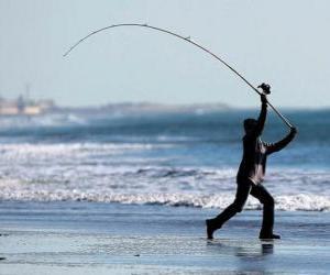 Puzzle Pêcheur sur la plage