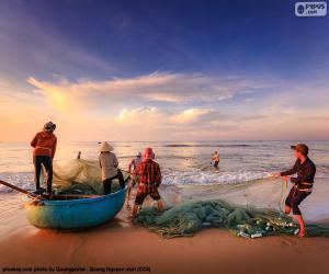 Puzzle Pêcheurs au Vietnam