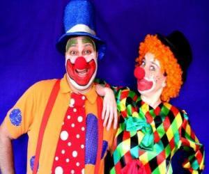 Puzzle Paire de clowns
