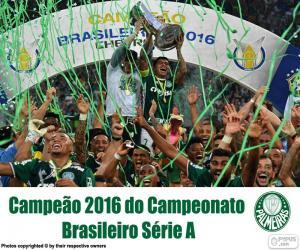 Puzzle Palmeiras, champion Brésil 2016