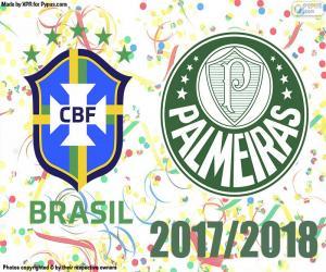 Puzzle Palmeiras, champion brésilien 2018