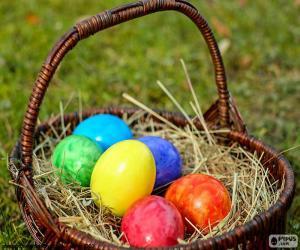 Puzzle Panier d'oeufs de Pâques