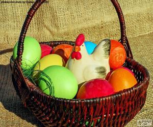 Puzzle Panier de Pâques