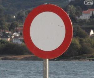 Puzzle Panneau de signalisation de circulation interdite