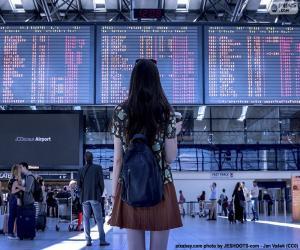 Puzzle Panneau information aéroport