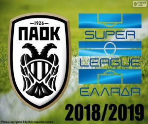 Puzzle PAOK, champion 2018-2019