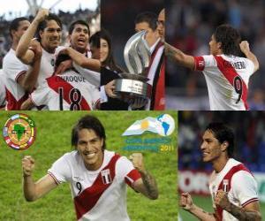 Puzzle Paolo Guerrero meilleur buteur de la Copa America 2011