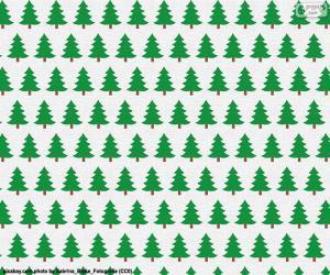 Puzzle Papier arbres de Noël