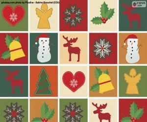 Puzzle Papier de motif de Noël