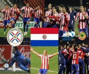 Puzzle Paraguay finaliste, Copa América Argentine 2011