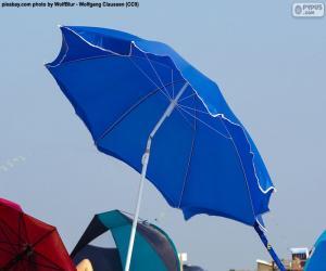 Puzzle Parasol bleu