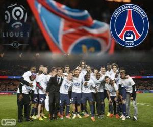 Puzzle Paris Saint Germain, PSG, champion Ligue 1 2013-2014, Championnat de France de Football