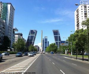 Puzzle Paseo de la Castellana, Madrid