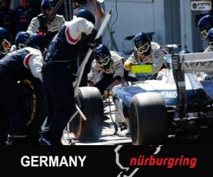 Puzzle Pastor Maldonado - Williams - Nürburgring, 2013