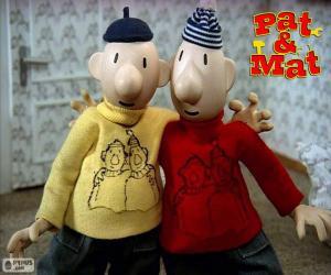 Puzzle Pat et Mat, deux amis