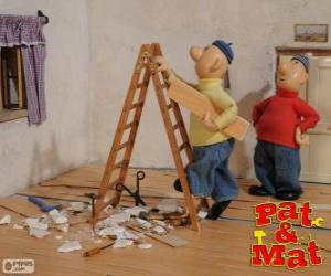 Puzzle Pat et Mat travail
