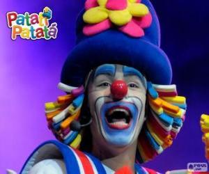 Puzzle Patatí, l'un des clowns de Patatí Patatá