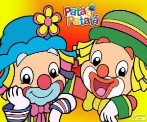 Puzzle Patati et Patatá, les deux clowns sont de grands amis
