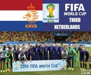 Puzzle Pays-Bas 3e classées du Coupe du monde de Football Brésil 2014