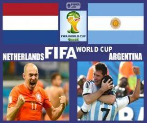Puzzle Pays-Bas - Argentine, demi-finales, Brésil 2014