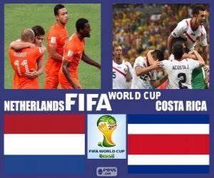 Puzzle Pays-Bas - Costa Rica, quarts de finale, Brésil 2014