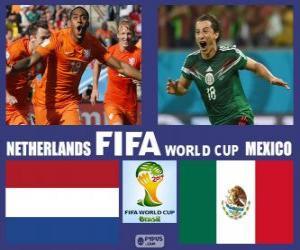 Puzzle Pays-Bas - Mexique, huitième de finale, Brésil 2014