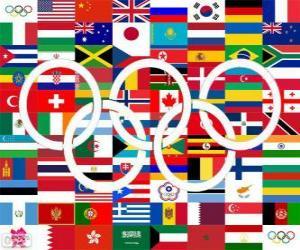 Puzzle Pays médaillés Londres 2012