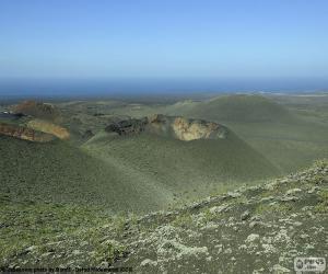 Puzzle Paysage volcanique, Lanzarote