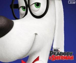 Puzzle Peabody, le chien, l'inventeur