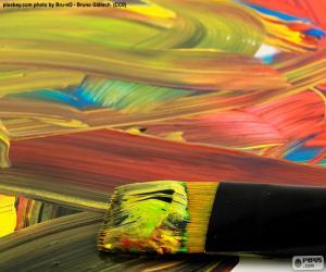 Puzzle Peindre en différentes couleurs