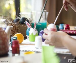 Puzzle Peinture des oeufs de Pâques