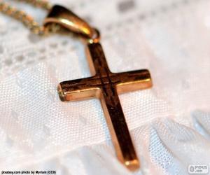 Puzzle Pendentif Croix en Or
