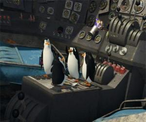 Puzzle Penguins de réparer un vieil avion écrasé