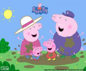 Puzzle Peppa Pig avec ses grands-parents