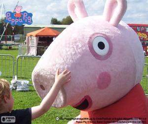 Puzzle Peppa Pig avec un enfant