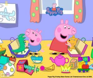 Puzzle Peppa Pig et George